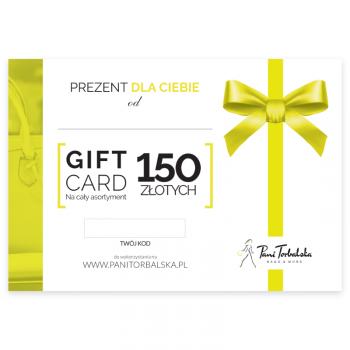 Darčeková karta v hodnote 150 PLN.
