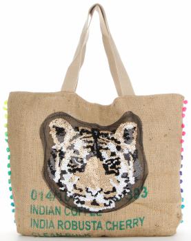Dámska taška veľkosti XXL, odolná a priestranná, ideálna pre letný tiger