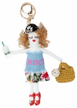 Kľúčenka pre kabelku Ola Modrá bábika