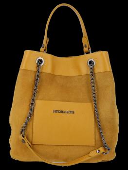 Univerzálne kožené tašky, ideálne na každodenné nosenie od horčice Vittoria Gotti