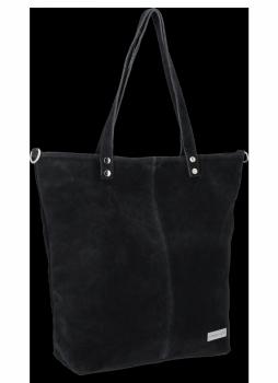 Univerzálna Kožená nákupná taška od spoločnosti Vittoria Gotti čierny