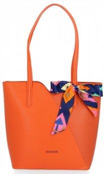 Klasické dámske tašky so šatkou David Jones Orange