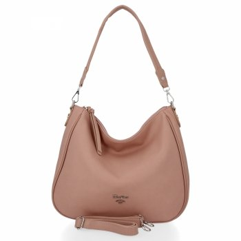 Univerzálne dámske tašky David Jones práškové ružové