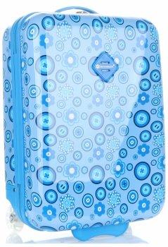Detský kufor s Kvetinovou potlačou snehová guľa Modrá