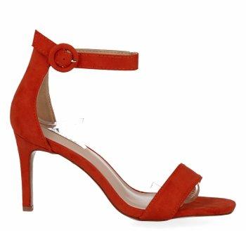 Oranžové Dámske sandále s vysokým podpätkom Bellucci