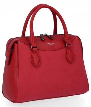 Elegantné dámske tašky klasické tašky David Jones červený