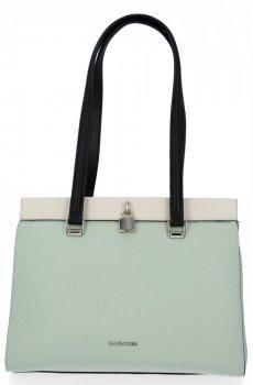 Klasická dámska taška David Jones Svetlo zelená