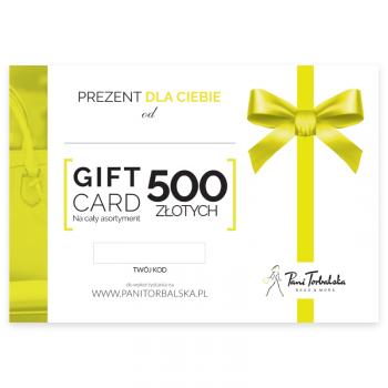 Darčeková karta v hodnote 500 PLN.