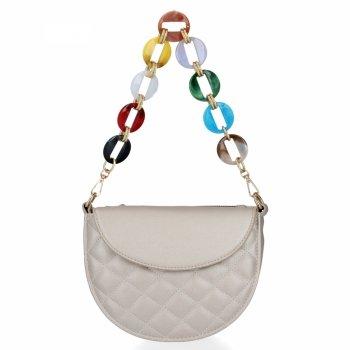 Elegantná Dámska prešívaná taška Herisson Silver