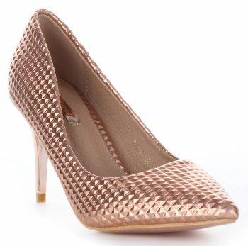 Módne a elegantné dámske topánky s vysokými podpätkami Bellucci Champagne