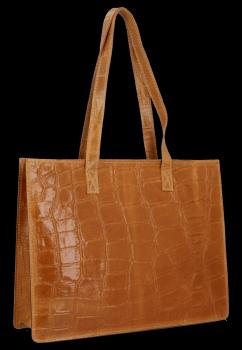 Vittoria Gotti je klasická Kožená taška v módnej korytnačke červenej témy
