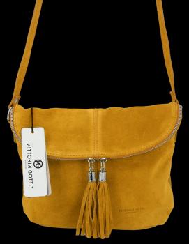 Univerzálna príležitostná Kožená taška veľkosti M od Vittoria Gotti žltý