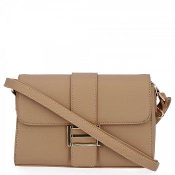 Herisson Firemná taška dámska elegantná taška na posol tmavo béžová