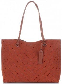 Univerzálne Otvorené Dámske tašky s kozmetickou taškou David Jones červený