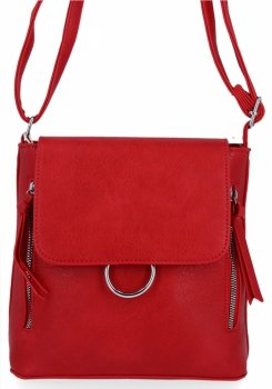 Módna dámska taška na posol Herisson Firenze Červená