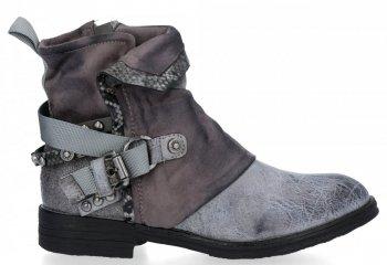 Šedé štýlové dámske členkové topánky Lucia