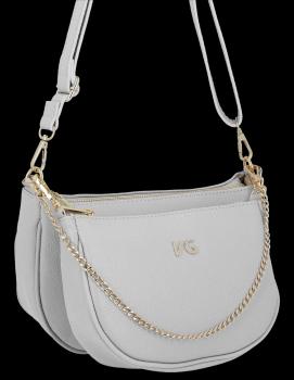 Módne kožené tašky messenger 2 v 1 od spoločnosti Vittoria Gotti vyrobené v Taliansku svetlošedé