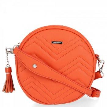 Módne Dámske okrúhle tašky David Jones Orange