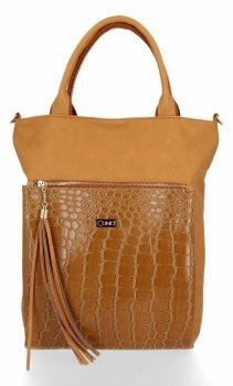 Štýlová dámska taška Conci Veľkosť XL horčica
