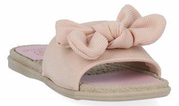 Ružové módne dámske žabky s lukom od Givany