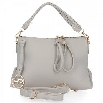 Univerzálna dámska taška od Herisson svetlo šedá