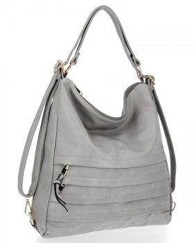 BEE BAG univerzálna dámska taška s funkciou batohu Judite Svetlo šedá