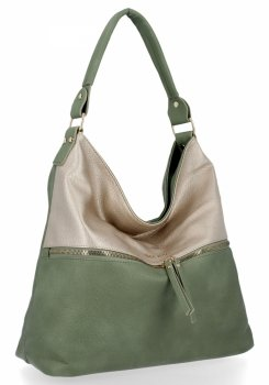 Bee Bag štýlová univerzálna taška XL Zelia Zelená / Zloty