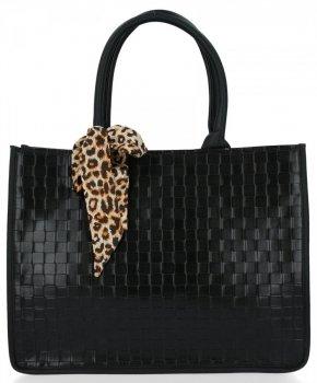 Módna dámska taška s šatkou na krk od Herisson čierny