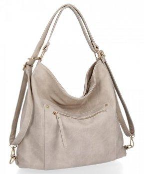 Univerzálna dámska taška s funkciou batohu od Herisson Beige