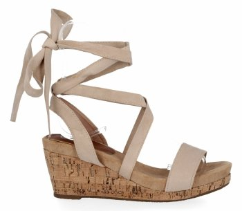 Lady Glory béžové Dámske klinové sandále