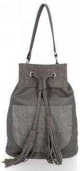 Univerzálne dámske tašky pre všetky príležitosti od Roberto Ricci pravý semiš / eko koža šedá