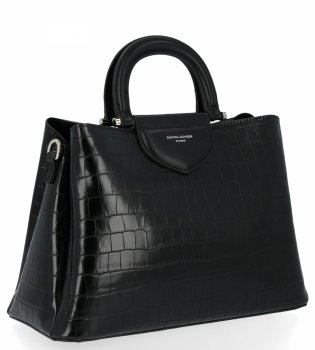 Dámska taška s tromi bunkami, taška so zvieracím vzorom David Jones čierny