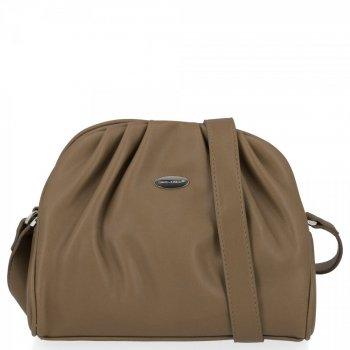 Elegantná dámska taška na posol David Jones khaki