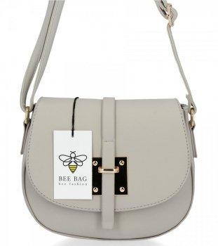 BEE Bag elegantná dámska taška na Messenger Lucia Svetlo šedá