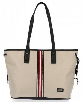 Módna dámska nákupná taška David Jones Béžová