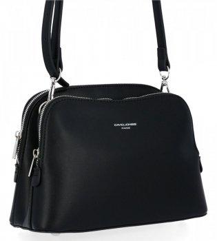 Elegantná dámska taška s dvoma kamerami David Jones čierny