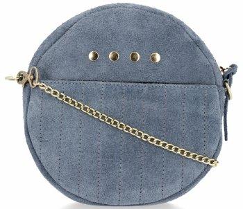 Vittoria Gotti módne okrúhle kožené džínsy vyrobené v Taliansku