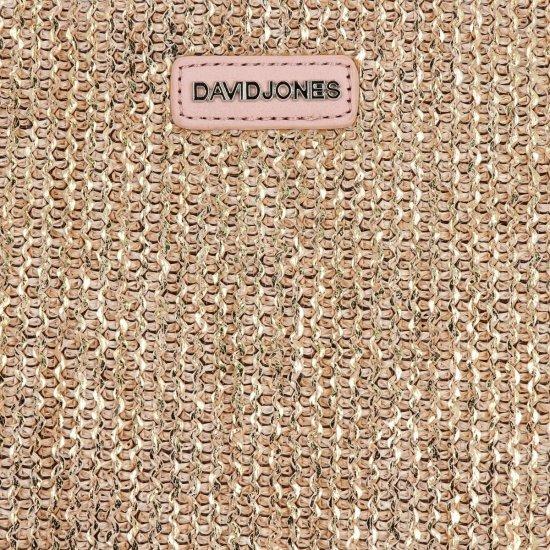 Módní Dámská Kabelka Kufřík David Jones Tmavě Béžová