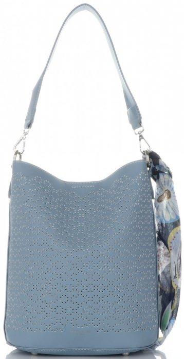 Dámské kabelky listonošky s kosmetikou David Jones ažurová Světle modrá 3bdb88a8be4