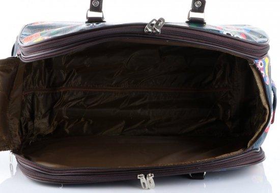 Cestovní taška v sově na kolečkách s výsuvnou rukojetí Or&Mi tmavě modrá
