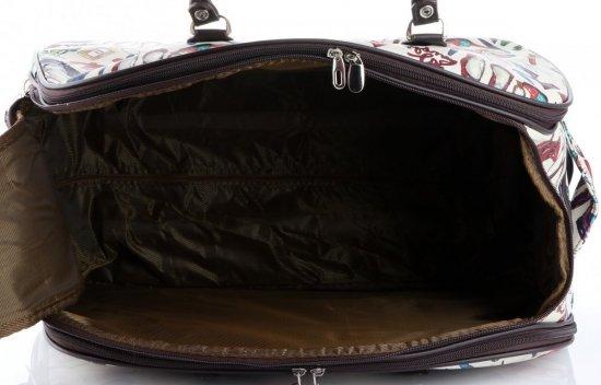 Cestovní taška na kolečkách s výsuvnou rukojetí Shoes Bags&More Or&Mi multicolor bílá