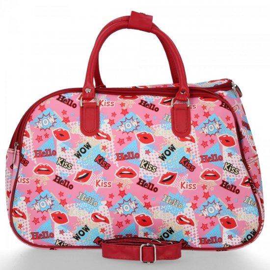 Średnia Torba Podróżna Kuferek Or&Mi Kiss Multikolor - Różowa