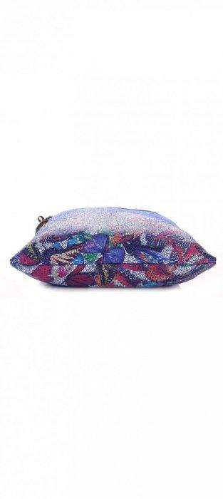 Modna Listonoszka Skórzana w Motyle Granatowa
