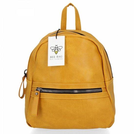 BEE BAG Uniwersalne Plecaczki Damskie Harper Żółty