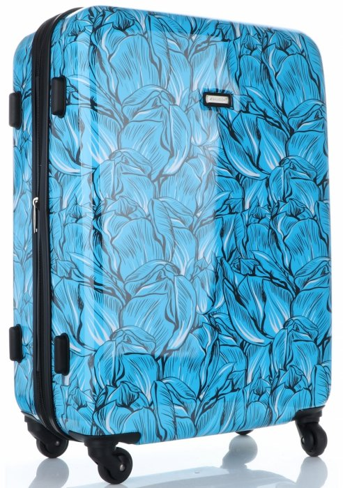 Modny Zestaw Walizek 3w1 z możliwością poszerzenia marki Madisson Multikolor - Niebieski