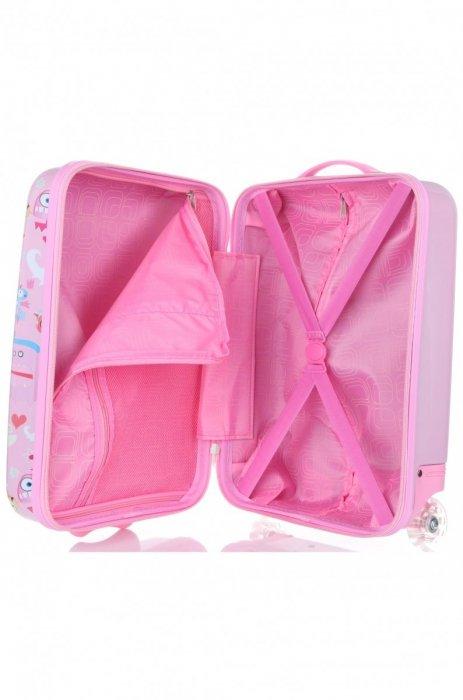Unikatowa Walizka Kabinówka Dla Dzieci Firmy Madisson Multikolor - Różowa