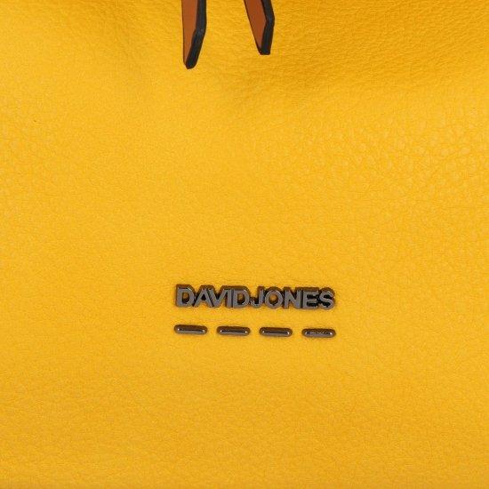 Uniwersalne Torebki Damskie na co dzień firmy David Jones Żółta