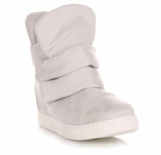 Sneakersy Damskie Jasno Szare