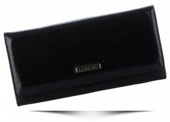 Duży Klasyczny Skórzany Portfel Damski firmy Lorenti Czarny