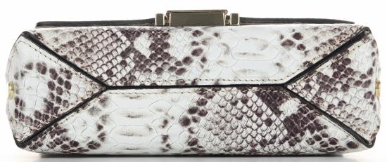 Vittoria Gotti Ekskluzywna Firmowa Listonoszka Skórzana Made in Italy w modny motyw węża Ziemista